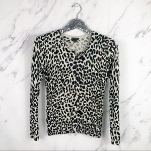 Ann Taylor | Cheetah Print Cardigan SZ XS Silk
